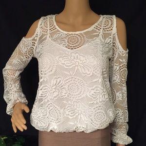 Hollister cold shoulder blouse